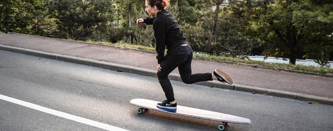 longboard landsurf skateboard Skate homemade bambù WhaleBOARDS Achab