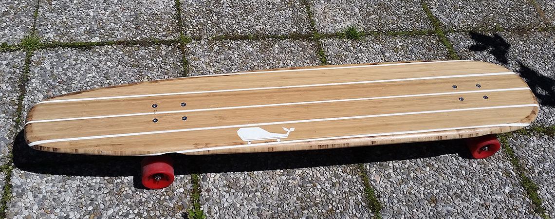 longboard landsurf skateboard Skate homemade bambù WhaleBOARDS Melville