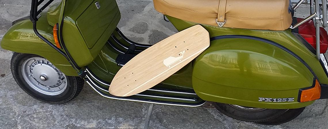 longboard landsurf skateboard Skate homemade bambù WhaleBOARDS MiniPequod
