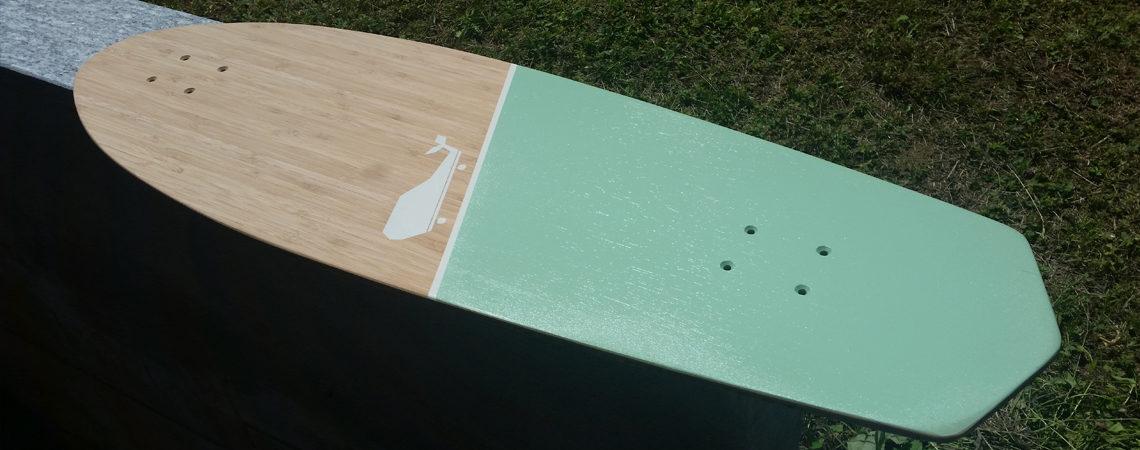 Whale boards longboard landsurf skateboard Skate homemade bambù WhaleBOARDS pequod