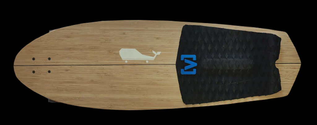 Whale boards longboard skate homemade bambù pequod