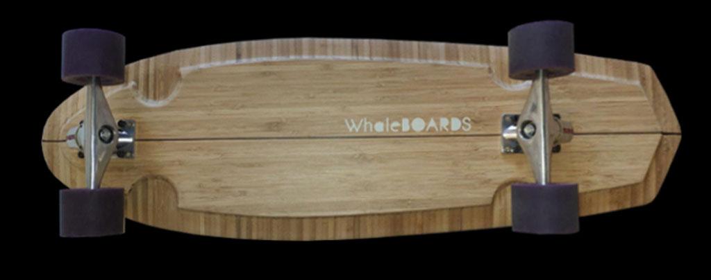 longboard landsurf skateboard Skate homemade bambù WhaleBOARDS pequod Whale boards