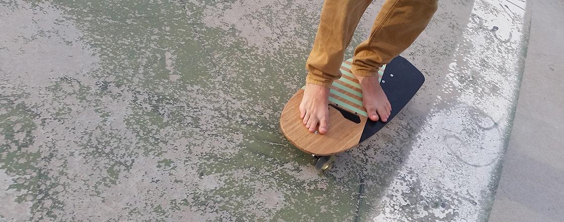 longboard landsurf skateboard Skate homemade bambù WhaleBOARDS Queequeg