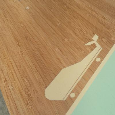 longboard landsurf skateboard Skate homemade bambù WhaleBOARDS woodworking Pequod