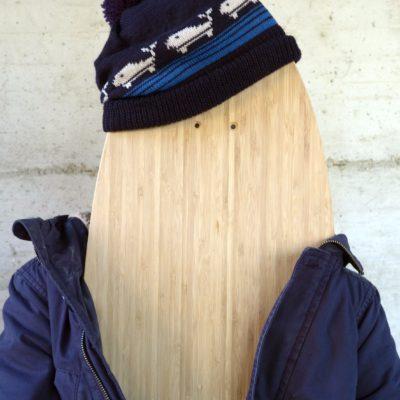 longboard landsurf skateboard Skate homemade bambù WhaleBOARDS whale cap