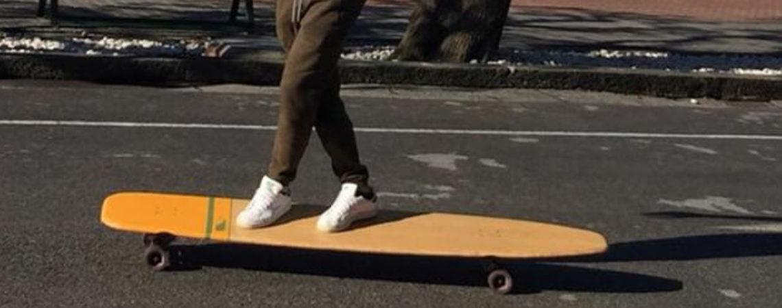 longboard landsurf skateboard Skate homemade bambù WhaleBOARDS Moby Deck
