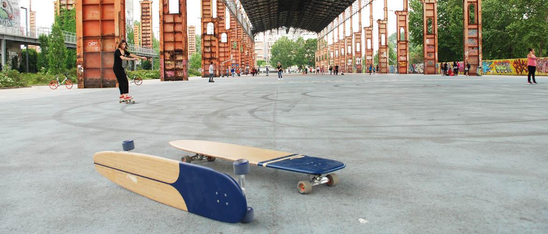 longboard landsurf skateboard Skate homemade bambù WhaleBOARDS Moby Deck Achab Dora